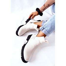 POTOCKI White Corano Boots With A Zip Cut 1