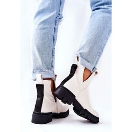 POTOCKI White Corano Boots With A Zip Cut 4