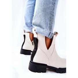 POTOCKI White Corano Boots With A Zip Cut 5