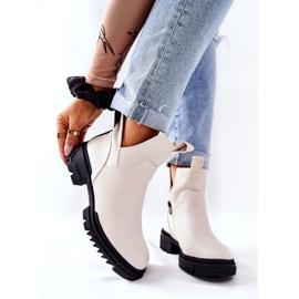 POTOCKI White Corano Boots With A Zip Cut 7