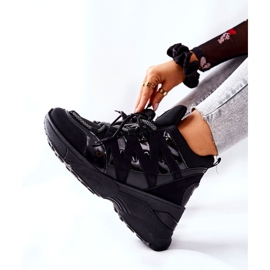POTOCKI Sport Black Hesane Wedge Shoes 2