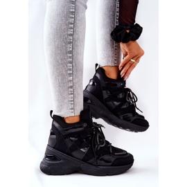 POTOCKI Sport Black Hesane Wedge Shoes 4