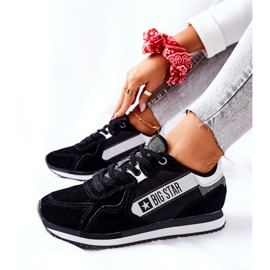 Leather sports shoes Big Star II274271 Black white 2