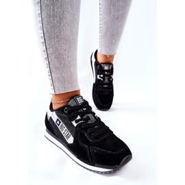 Leather sports shoes Big Star II274271 Black white 5