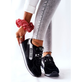 Leather sports shoes Big Star II274271 Black white 7