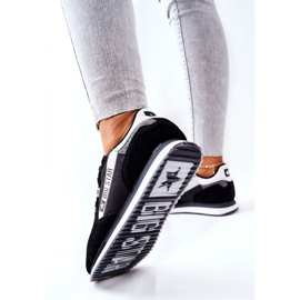 Leather sports shoes Big Star II274271 Black white 1