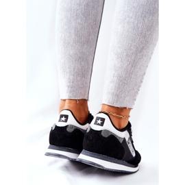 Leather sports shoes Big Star II274271 Black white 3