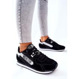 Leather sports shoes Big Star II274271 Black white 4