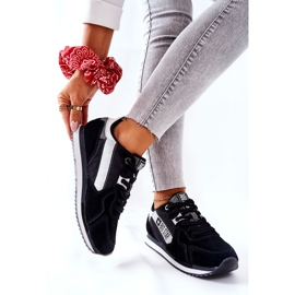 Leather sports shoes Big Star II274271 Black white 6