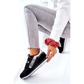 Leather sports shoes Big Star II274271 Black white 8