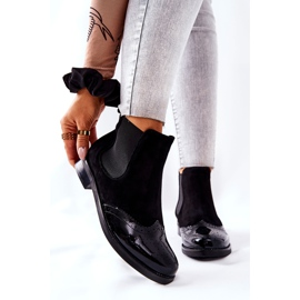 Leather Slip-On Boots Laura Messi Black 2096 1