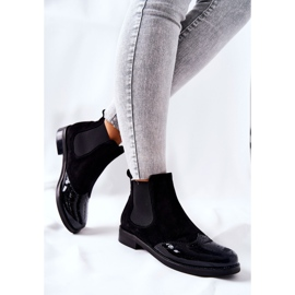 Leather Slip-On Boots Laura Messi Black 2096 3