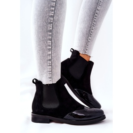 Leather Slip-On Boots Laura Messi Black 2096 5