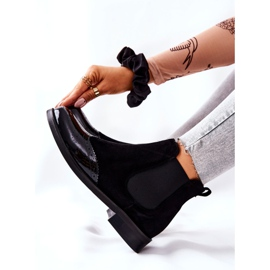 Leather Slip-On Boots Laura Messi Black 2096 6