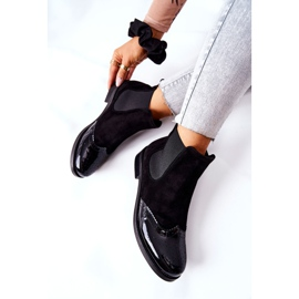 Leather Slip-On Boots Laura Messi Black 2096 7