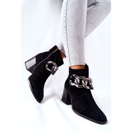 Leather boots with chain Laura Messi Black 2345 3