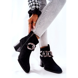 Leather boots with chain Laura Messi Black 2345 2