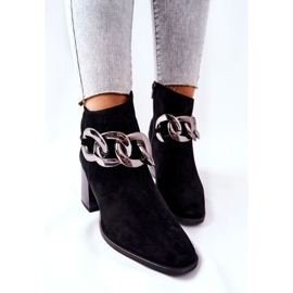 Leather boots with chain Laura Messi Black 2345 4