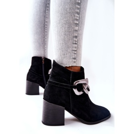 Leather boots with chain Laura Messi Black 2345 5