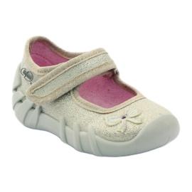 Girls slippers bow Befado gold golden 1
