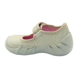 Girls slippers bow Befado gold golden 2