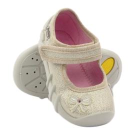 Girls slippers bow Befado gold golden 3