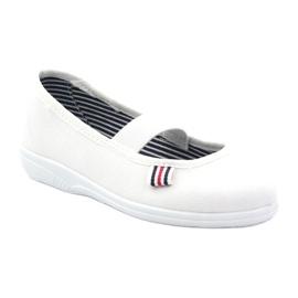 Girls' slippers Befado 274X013 white 1