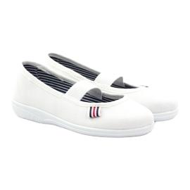 Girls' slippers Befado 274X013 white 4