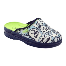 Befado children's shoes slippers for coloring white navy blue 1