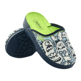 Befado children's shoes slippers for coloring white navy blue 3