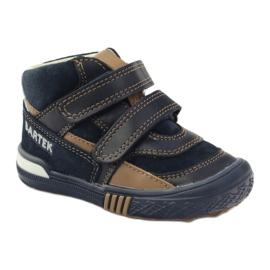 Preventive shoes Bartek 91756 new navy brown white 1