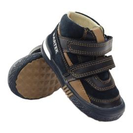 Preventive shoes Bartek 91756 new navy brown white 3