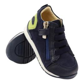 Boots slider Bartuś 181 navy blue green 3