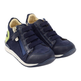 Boots slider Bartuś 181 navy blue green 4