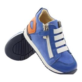 Boots slider Bartuś 181 blue orange white 3