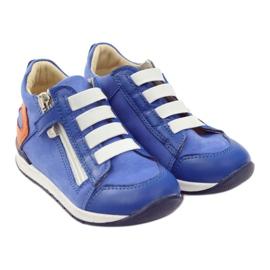 Boots slider Bartuś 181 blue orange white 4