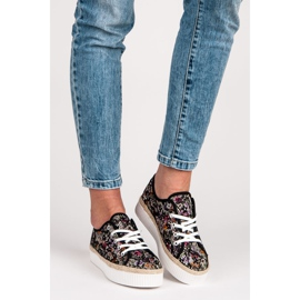 Kylie Lace espadrilles with flowers multicolored 6
