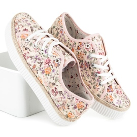 Kylie Lace espadrilles with flowers multicolored 3