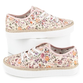 Kylie Lace espadrilles with flowers multicolored 2