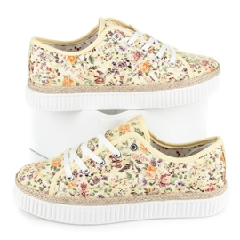 Kylie Lace espadrilles with flowers multicolored 1