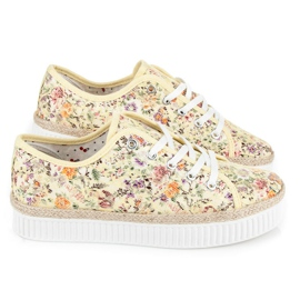 Kylie Lace espadrilles with flowers multicolored 5