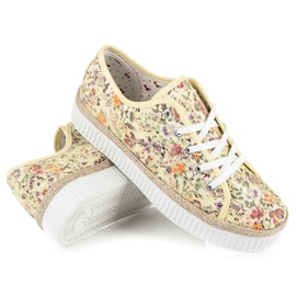 Kylie Lace espadrilles with flowers multicolored 4