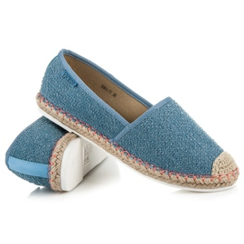 Vices Espadrilles with a pattern blue 1