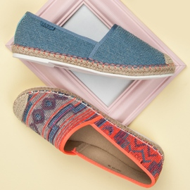 Vices Espadrilles with a pattern blue 4