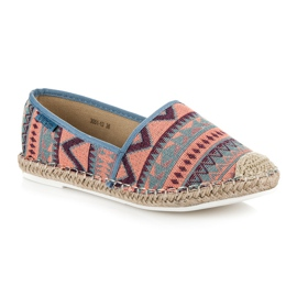 Vices Espadrilles with an ethnic pattern multicolored 2