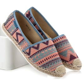 Vices Espadrilles with an ethnic pattern multicolored 1