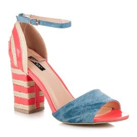 Vices Denim High Heels Espadrilles pink 1