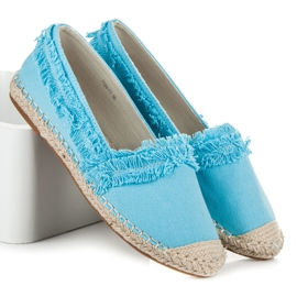Vices Blue Espadrilles With Tassels 1