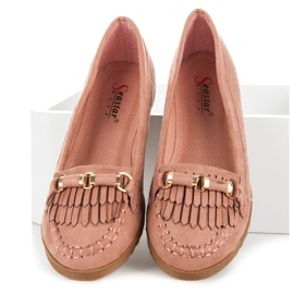 Seastar Loafers with tassels pink 1