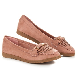 Seastar Loafers with tassels pink 2